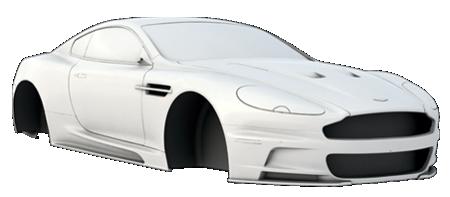 3D car scanning aston martin