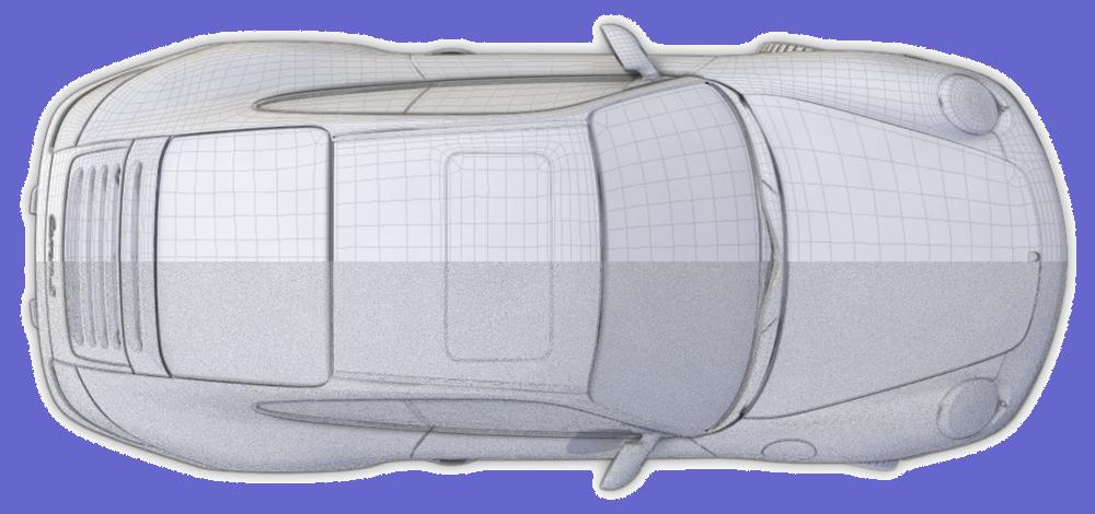 Mimic 3D scan data automotive